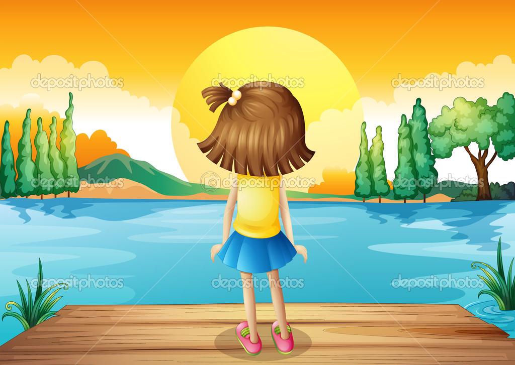 Dibujos: Una Niña Mirando El Sol