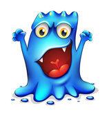 velmi rozzlobený modré monstrum