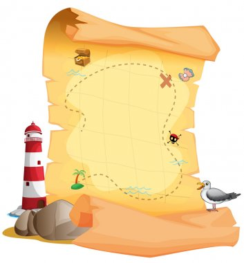 A treasure map near the lighthouse