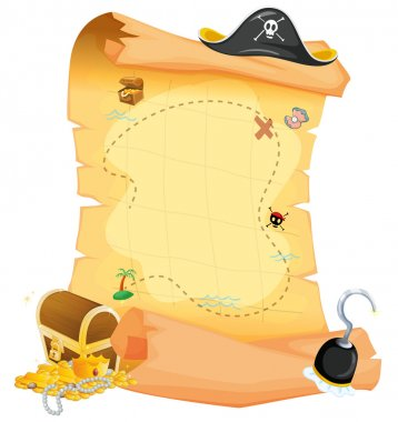 A brown treasure map