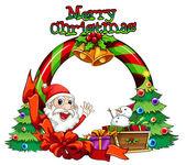 Šablona vánoční přání s monster a sněhulák nad