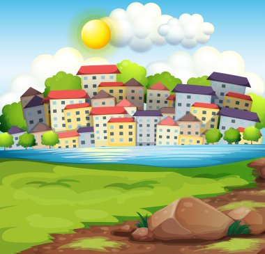 A village near the river