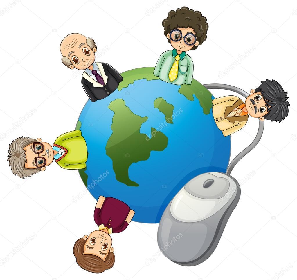 Geschäftsleute rund um den Globus — Stockvektor © interactimages ...