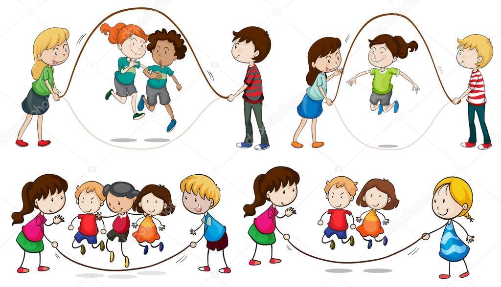 Игра скакалки картинки для детей