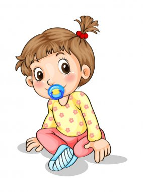 A toddler with a pacifier