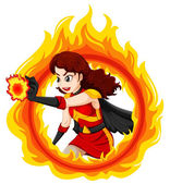 hořící žena superhrdina