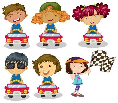 Kids car racing
