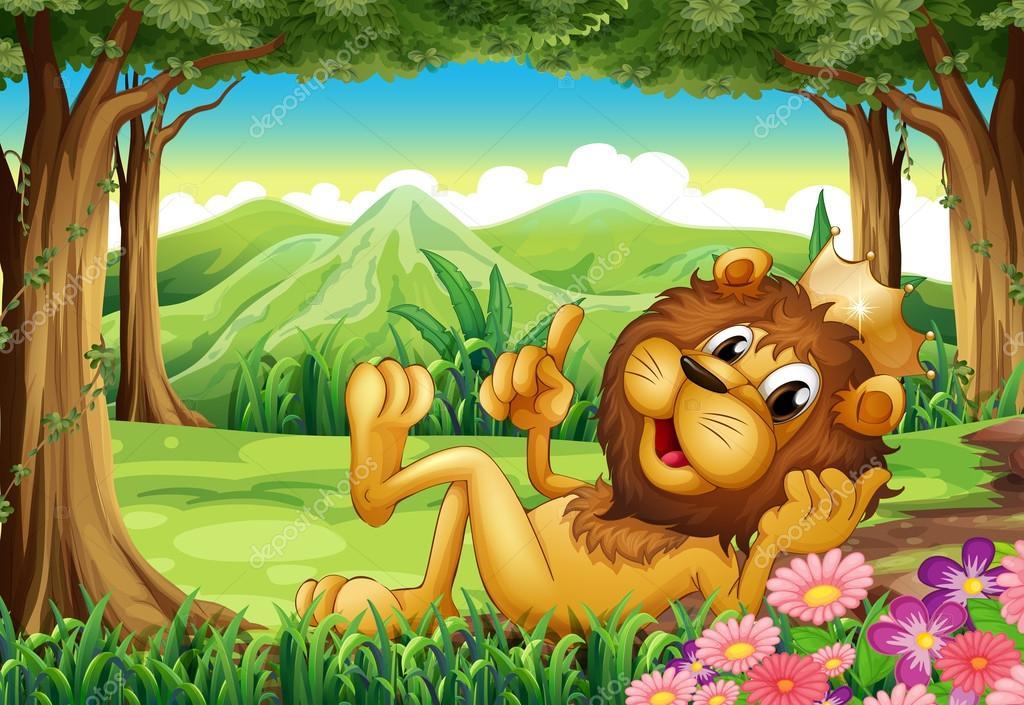 Un Rey León En El Bosque