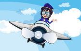 Fotografia una hostess su un aereo