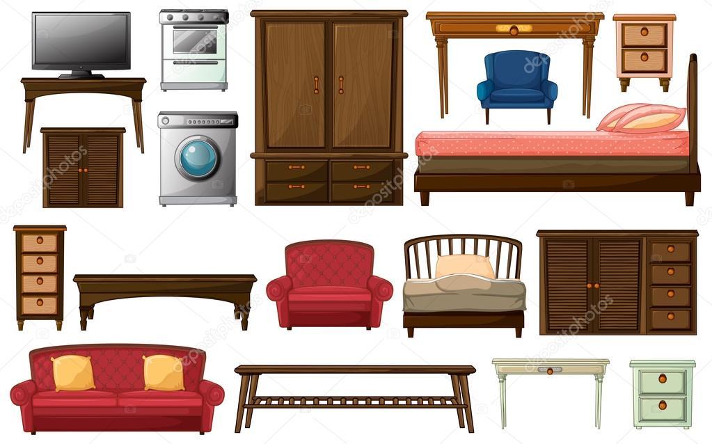 elettrodomestici e mobili di casa vettoriali stock