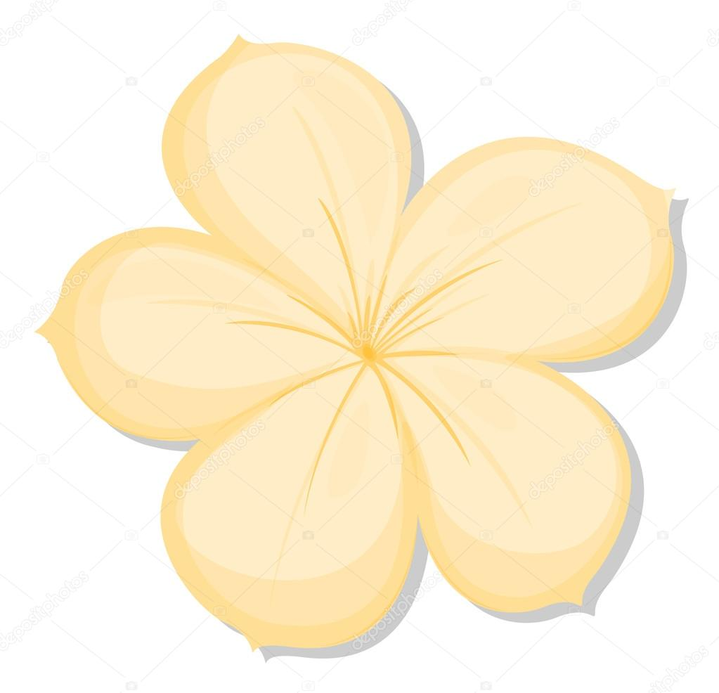 A Five Petal Yellow Flower Stock Vector Interactimages 43066653