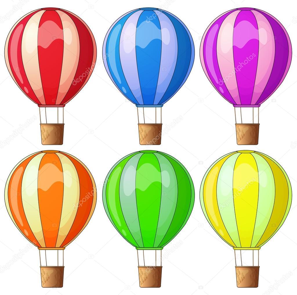 Colourful hot-air balloons