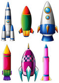 Fotografie Different rocket designs