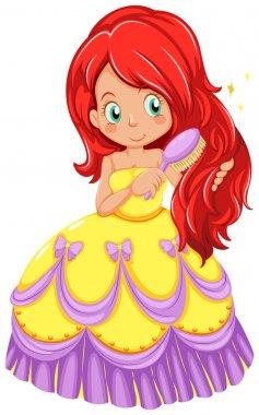 A princess combing her hair