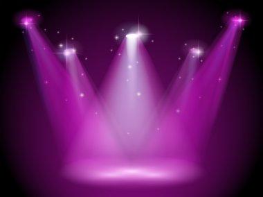 A purple stage