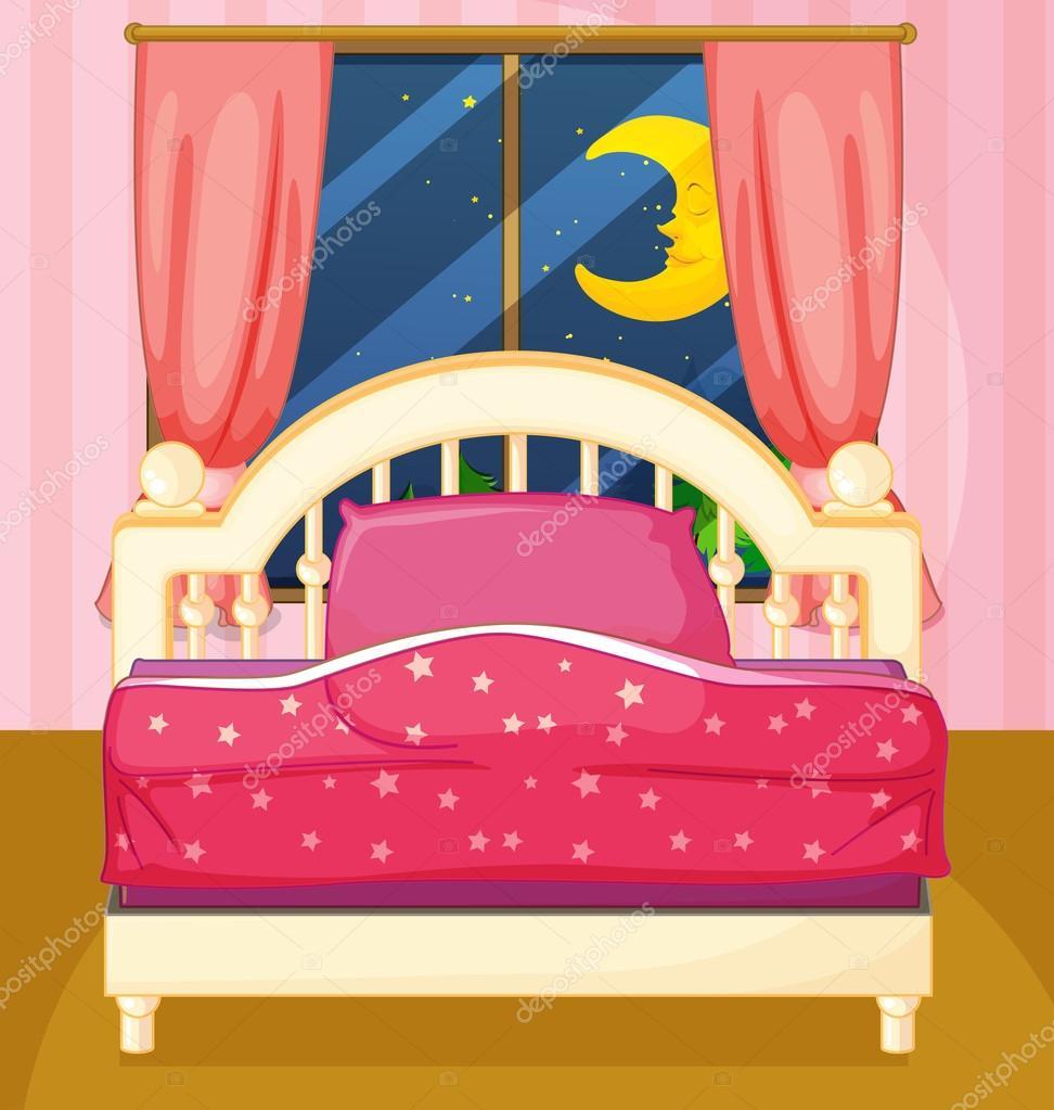 Recamara vector de stock interactimages 51350861 for Dormitorio animado