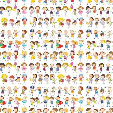 Seamless design of a group of people