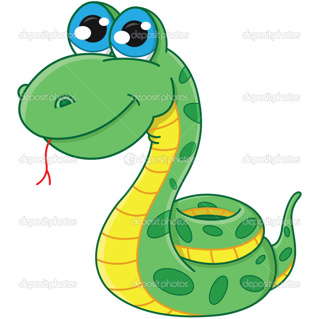 Dessin Animé Serpent serpent de dessin animé — image vectorielle boyusya © #13357068