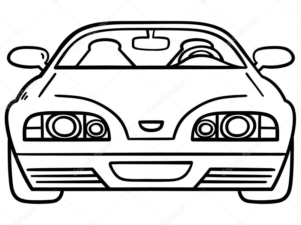 Car For Coloring Book Stock Vector C Boyusya 26597353