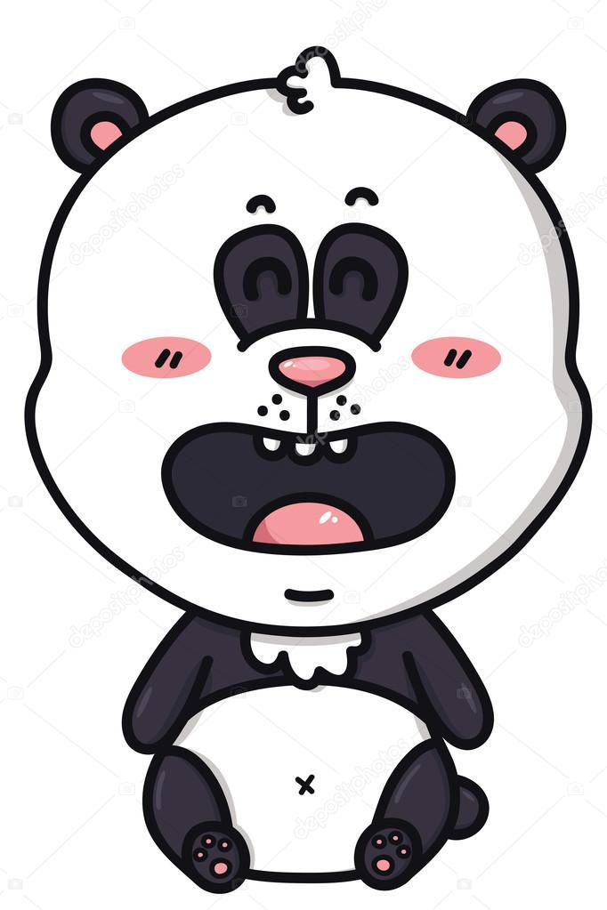 Dessin Kawaii Panda Kawaii Panda Bear Stock Vector