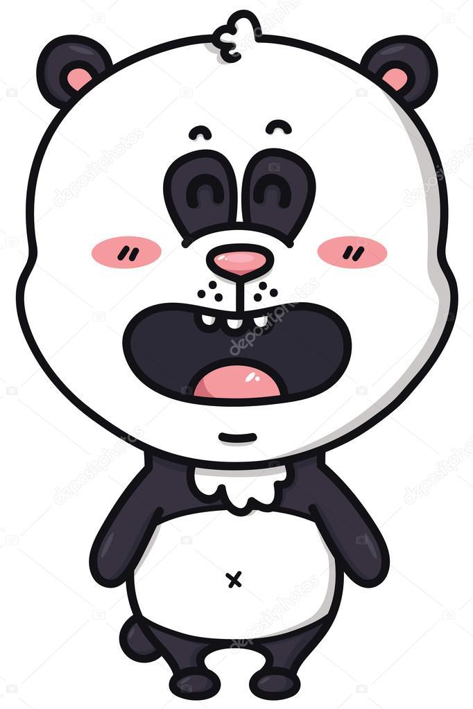 Kawaii Panda Bear Stock Vector Boyusya 49596885