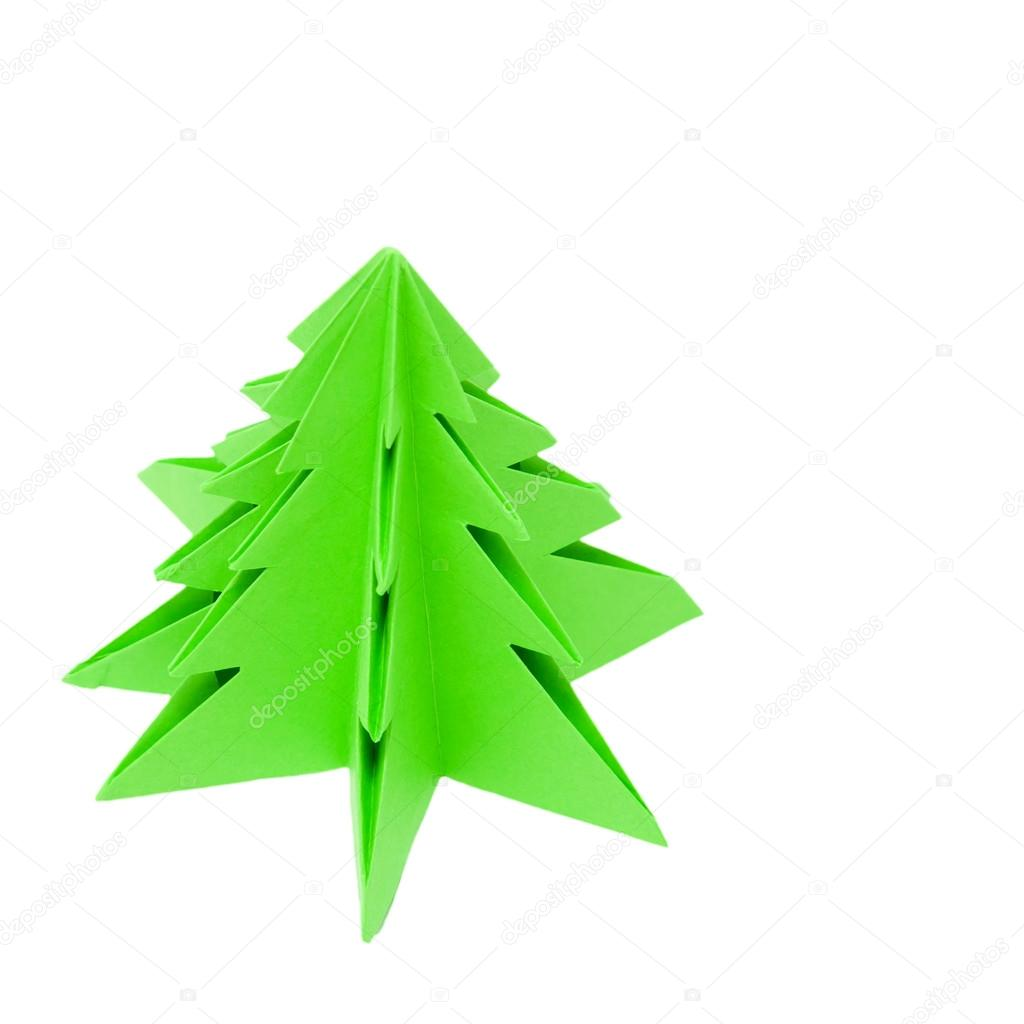 origami weihnachtsbaum stockfoto vitalinka 12728621. Black Bedroom Furniture Sets. Home Design Ideas