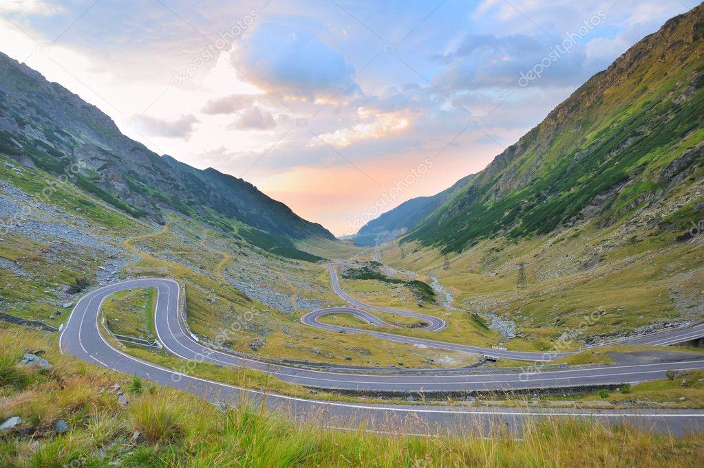 Transfagarasan winding road