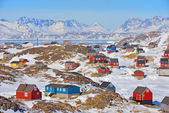 Fotografie Colorful houses in Greenland