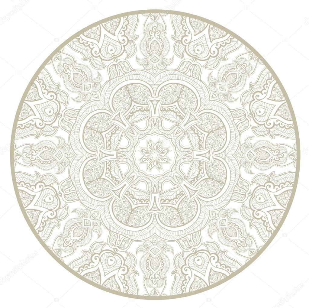 Patrón de encaje redondo ornamentales como mandala_1 — Vector de ...