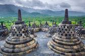 Photo Borobudur Buddist temple Yogyakarta. Java, Indonesia