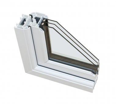 UPVC triple glazing cross section