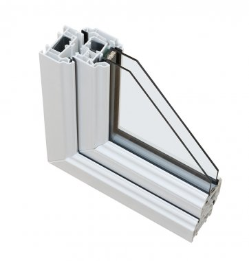 UPVC Double glazing cross section