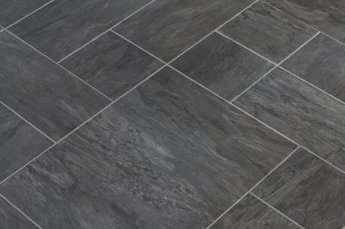 Slate texture vinyl flooring a popular choice for modern kitchens and bathrooms stock vector