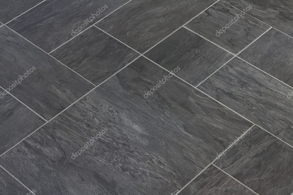 Slate Stone Texture Vinyl Floor Tiles Stock Photo