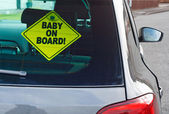Fotografie Baby on Board Warnschild