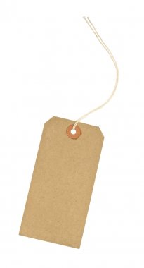 Blank Cardboard luggage identification tag