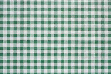 Green Gingham tablecoth background