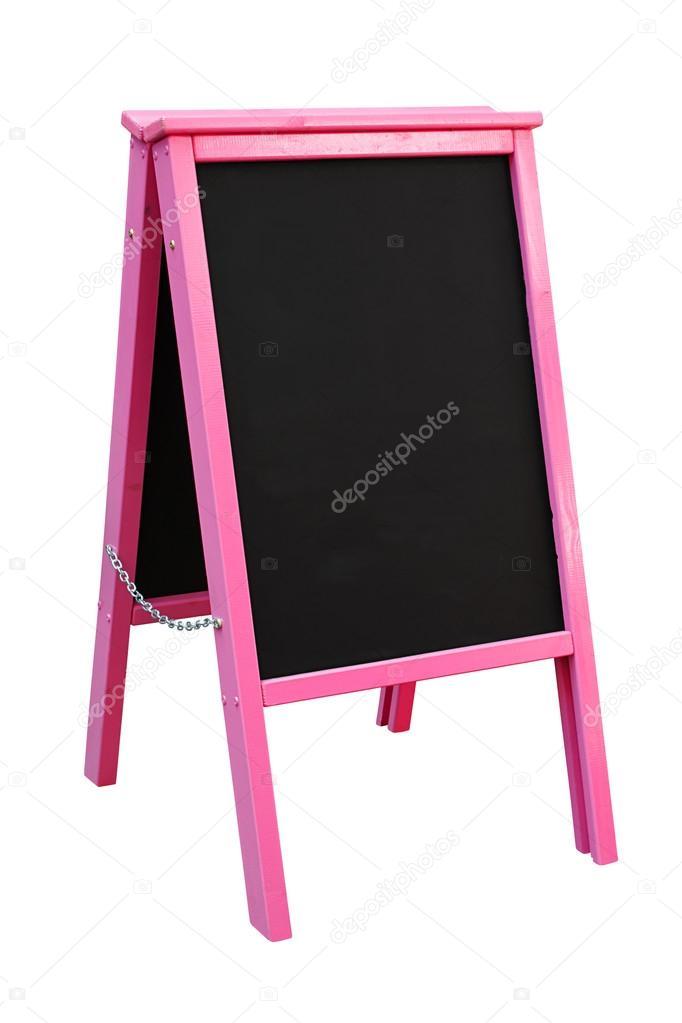 tablero de emparedado de pizarra rosa — Foto de stock ...