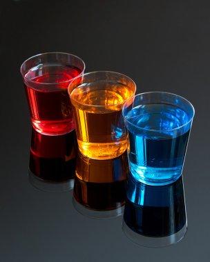 Abstract shot glasses