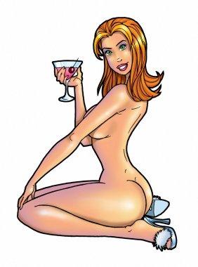 Sexy cartoon girl