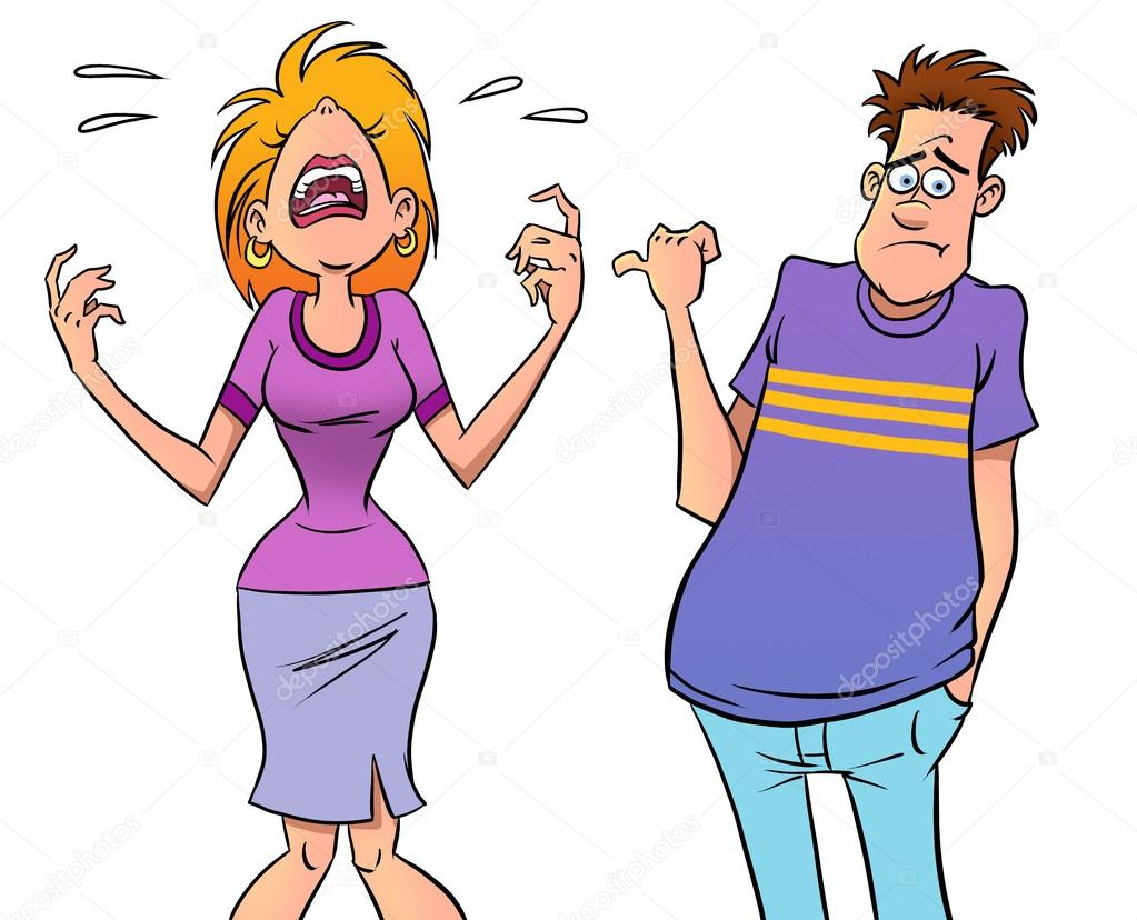 Image result for CARTOON PICTURES OF A COUPLE QUARRELING