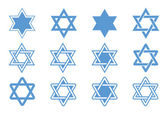 Photo Star of David. Vector illustration.