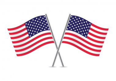 American Flags. Flags of USA. Vector illustration. stock vector