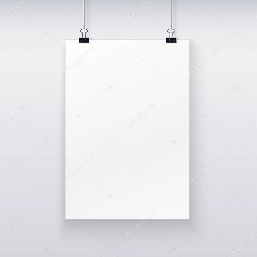 Vector template of a paper sheet for your design