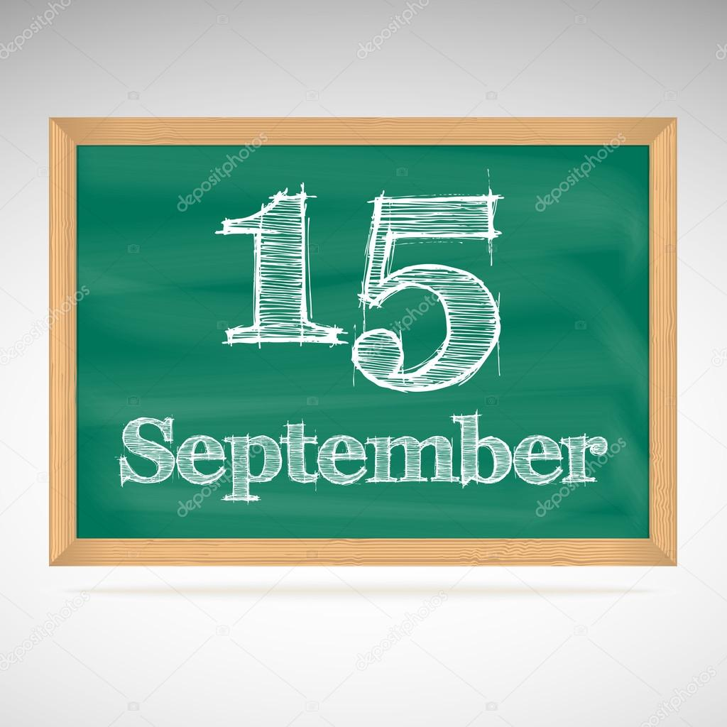 Calendar Illustration Board : September day calendar school board date — stock