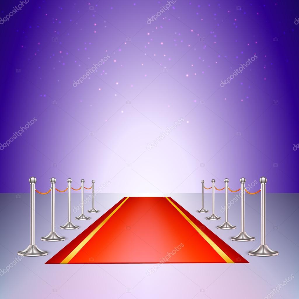 Teppich Eingang roter teppich eingang mit die rungen und die seile stockvektor