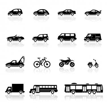 Icons set vehicles stock vector