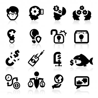 Business ideas and concepts icons set