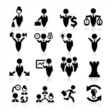 Business Concept icons set elegant series