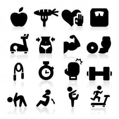 Fitness icons stock vector